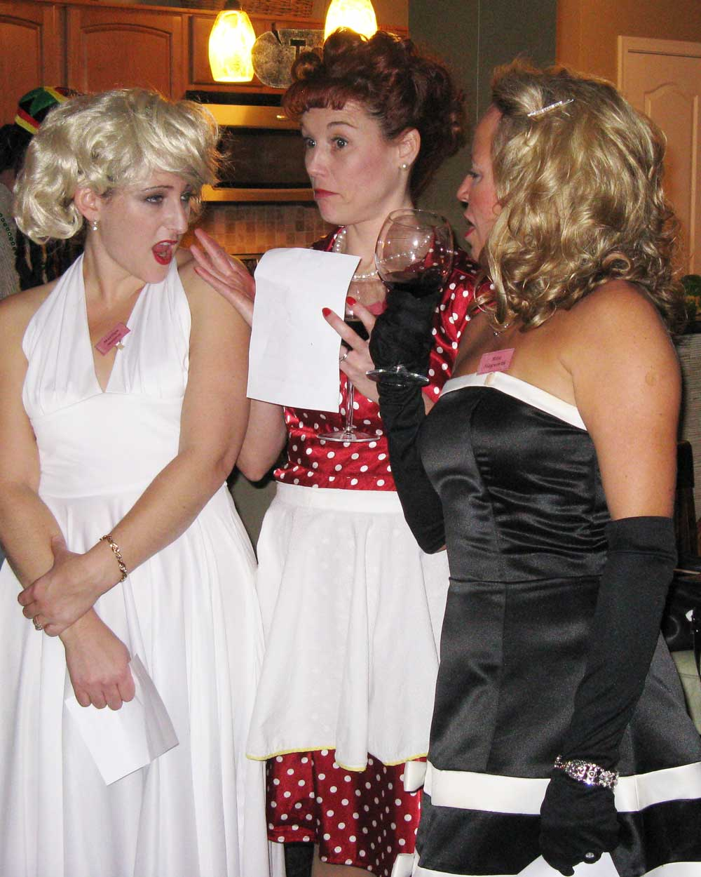 Girls at the 60s party
