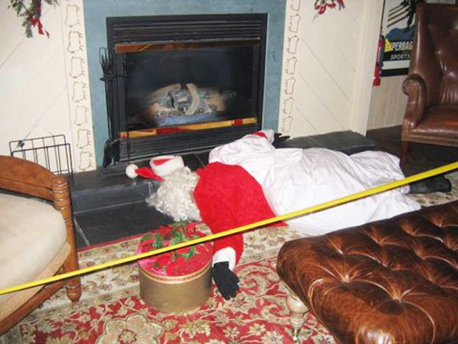 Santa at Xmas party