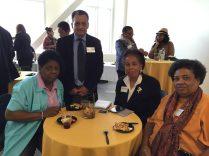 Grace Idowu and Zeke Gusman of Medical Assisting, student Marlene Hurd, and guest.