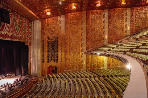 The inside view of the Paramount Theater from the second level