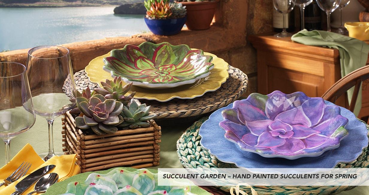 Merritt Dinnerware & Set Of 4 Merritt Melamine Pine Ridge