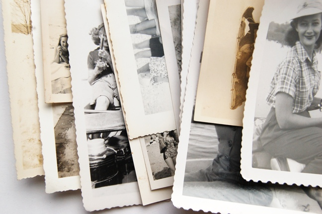 working with vintage photos on fabric