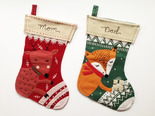 Embroidered Christmas Stockings | The Merriweather Council Blog