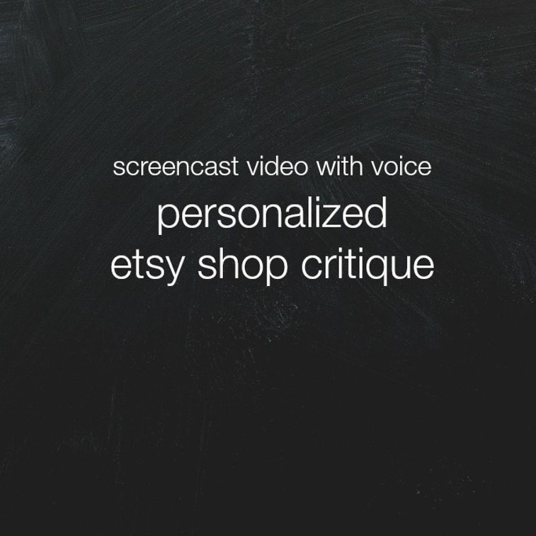 screencast etsy shop critique | the merriweather council blog
