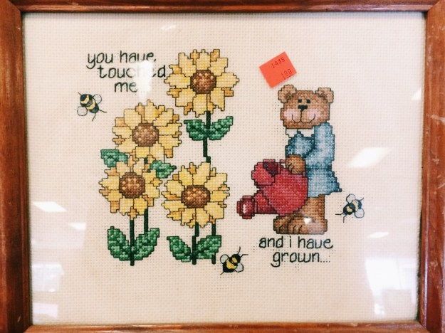 thrift store embroidery + needlework finds | The Merriweather Council Blog