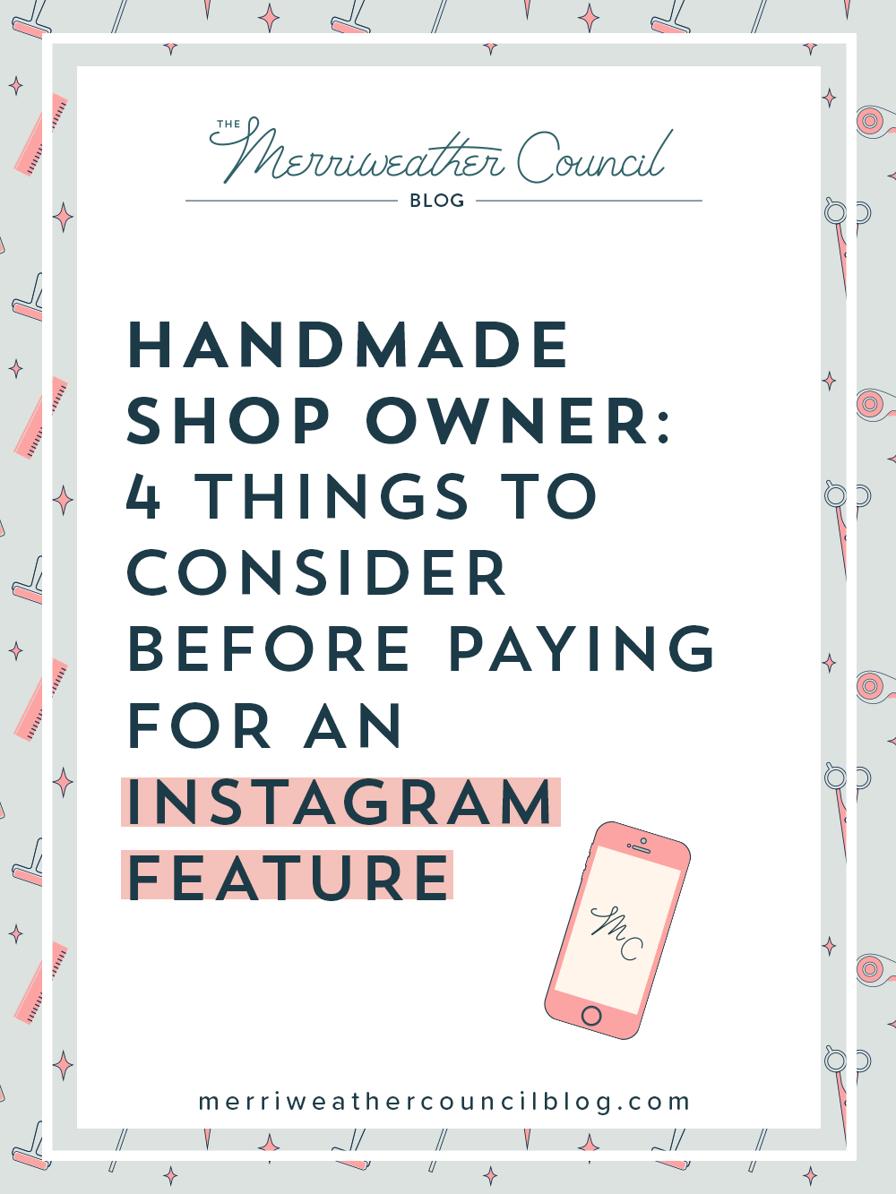should you pay for an instagram post on a handmade feature account? | the merriweather council blog
