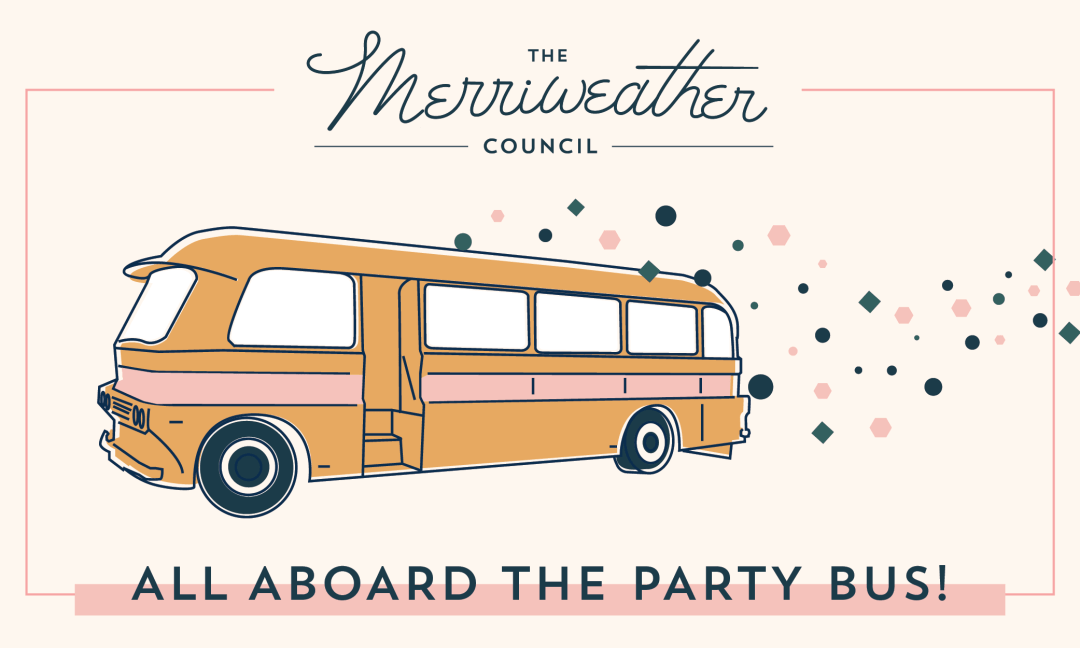 The Merriweather Council Party Bus