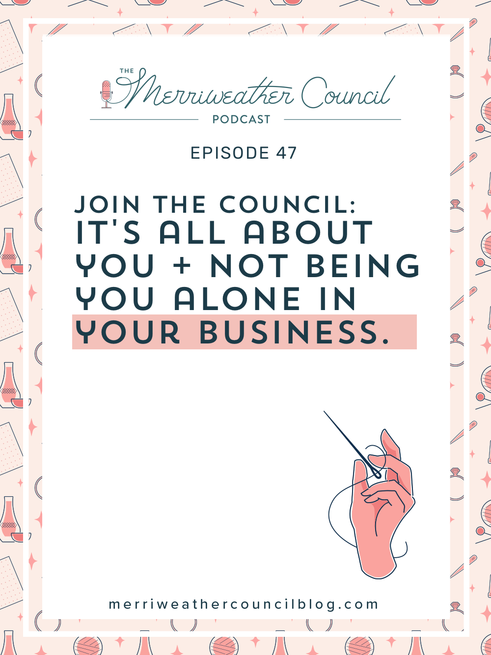 You are most likely a one-person show. Your business is relying on you. As a soloprenuer,it all comes down to you. But YOU don't have to be you alone in your business. Let me explain what that means in this episode. | The Merriweather Council