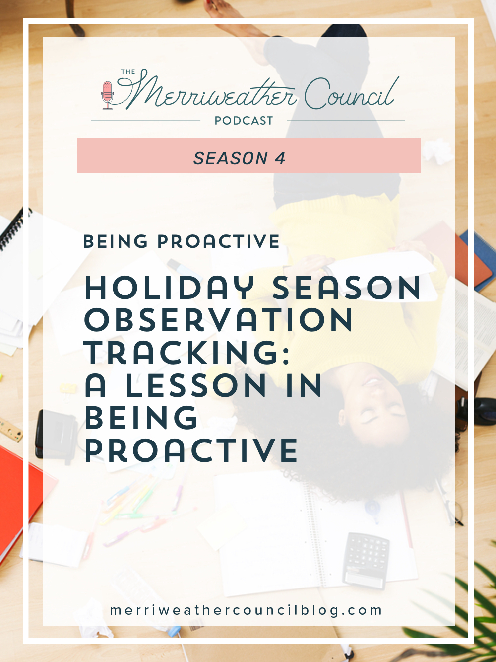 On today's episode, I'm giving you a guided lesson in what to track during the holiday rush so your holiday season review prepares you for next year. | The Merriweather Council Podcast