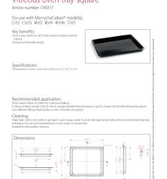 vitreous oven tray square dx0117 [ 794 x 1123 Pixel ]