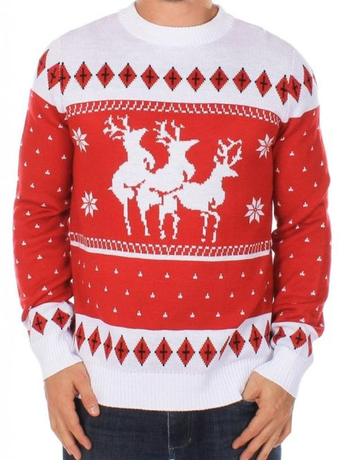 Naughty reindeer christmas sweater