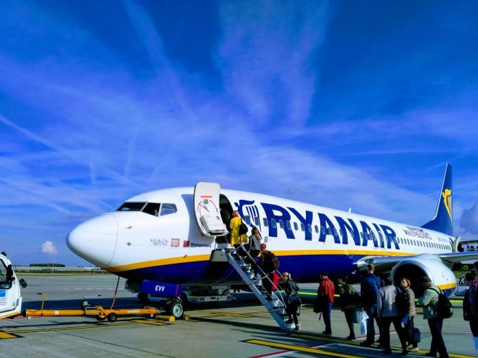 Boarding Ryanair flight