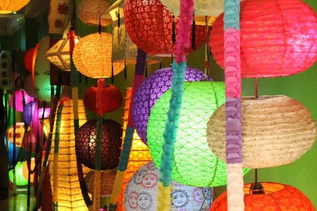 A light shop in Kathmandu