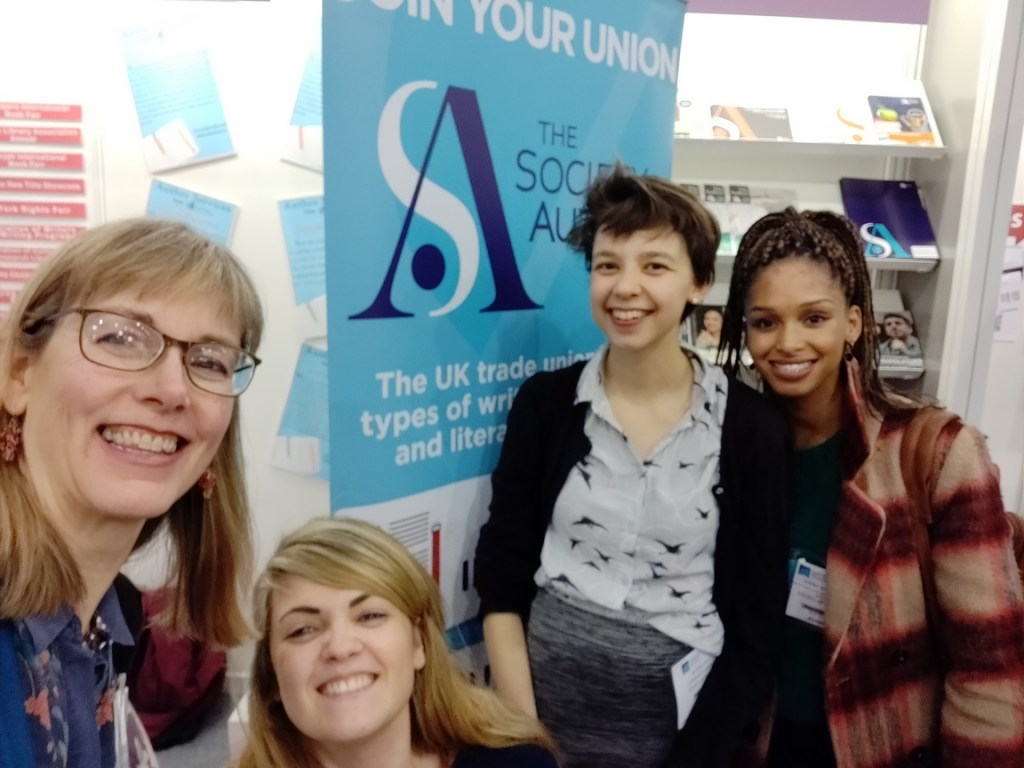 Staff from Society of Authors at London Book Fair