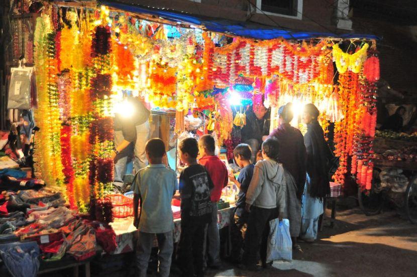 Tihar Street Scene Kathmandu by Rowan Butler