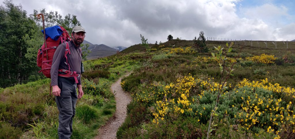 John Lyall, mountain guide, in the Cairngorms