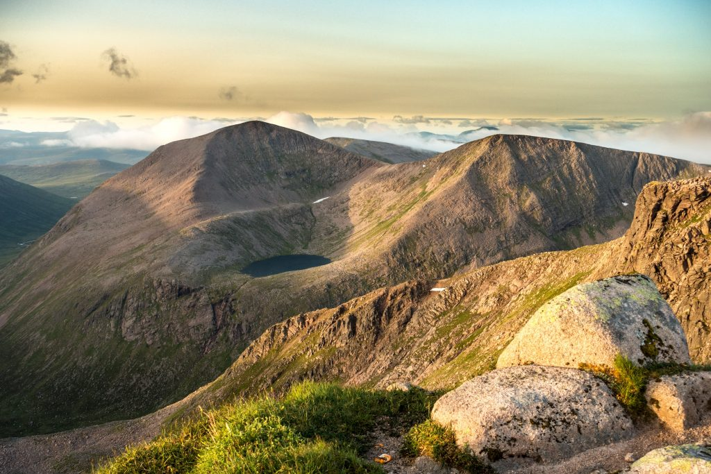 View across to Cairn Toul and Angel's Peak in the Cairngorms. Photo credit: Jonathan Wilson