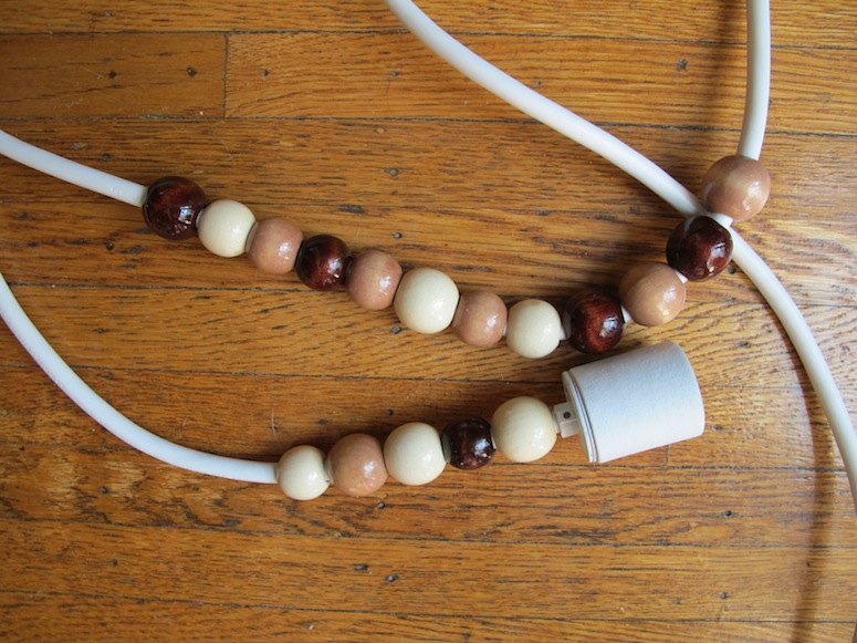 Wood Beaded Light Fixture: A Simple Beaded DIY Pendant
