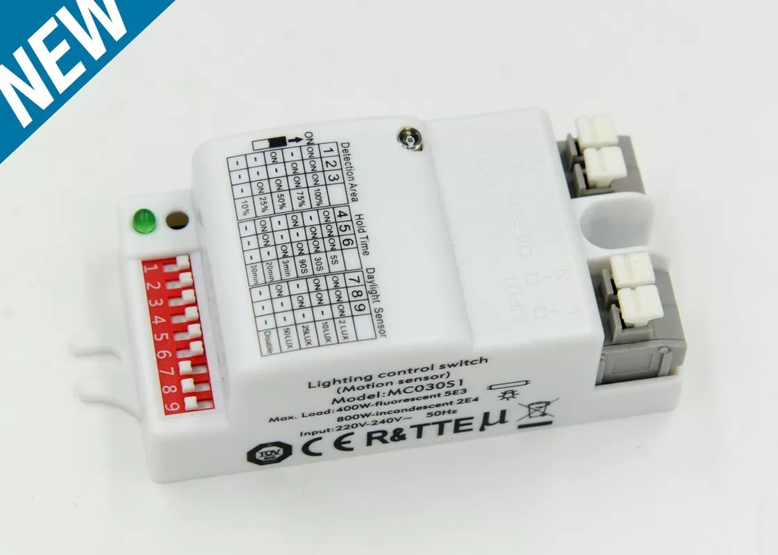 Indoor Microwave Motion Sensor Module , RF Motion Sensor With Automatic Switching