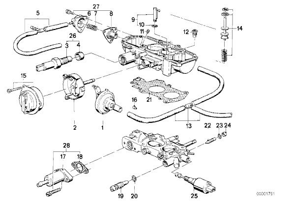 BMW varaosat 300 sarja E30 83-91 Polttoainejärjestelmän osat