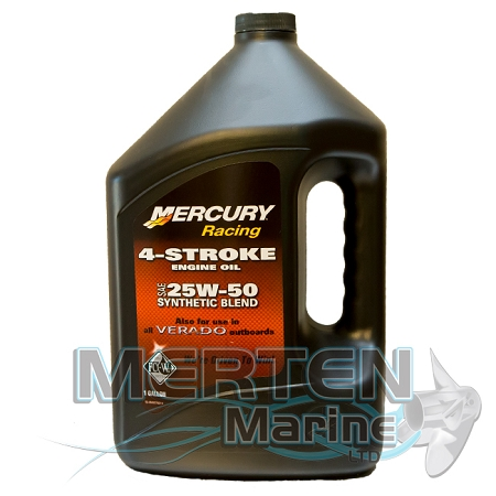 Mercury RACING 4Stroke Synthetic Blend Oil  25W50  1