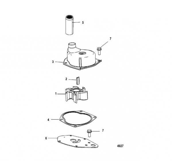 mercruiser water pump diagram 93 ford ranger fuse panel impeller mercury 19453t merten marine quick view