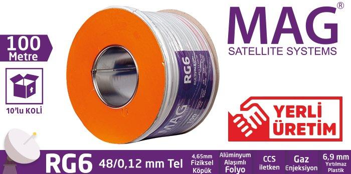 Mag RG6 100 Metre anten kablosu