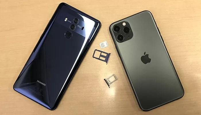 Softbank mate 10 ProからSIMフリーiPhone 11ProへのSIM差し替え