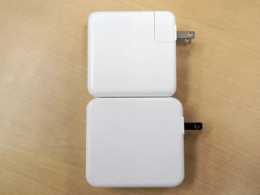 RP-PB125とMacbook Pro充電器との比較1