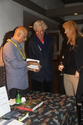 Dr. Abraham Verghese signs books in The Green Room