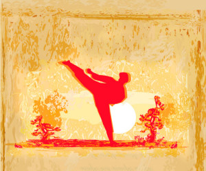 Karate Kick image from BigStock