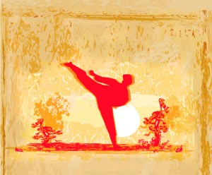 Karate Kick image from BigStock