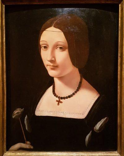 Retrato de una dama como Santa Lucía, de Giannantonio Boltraffio