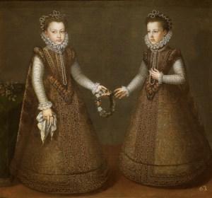 Isabel Clara Eugenia y su hermana Micaela. Alonso Sánchez Coello
