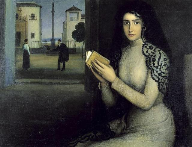 Mujer en oración o Nieves Julio Romero de Torres Museo RABBAASF