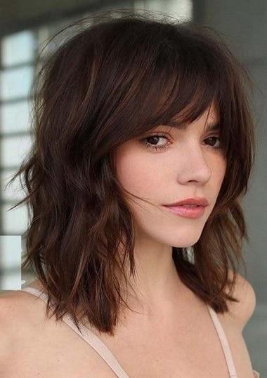 photos de coiffure femme mi long manv