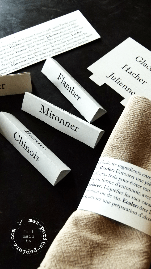 glossaire de table