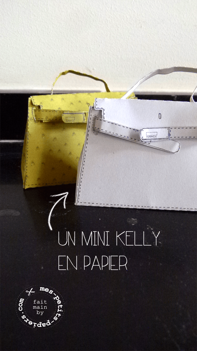 DIY: Un mini sac Kelly en papier, so chic!