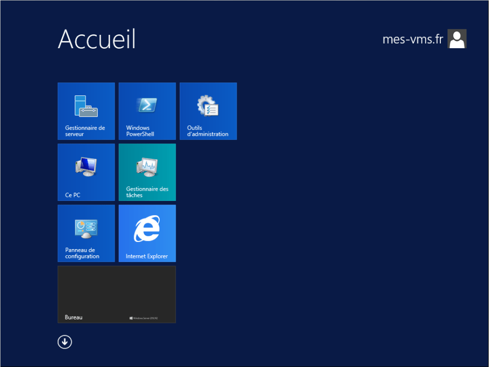 Machine virtuelle - Windows server 2012 R2