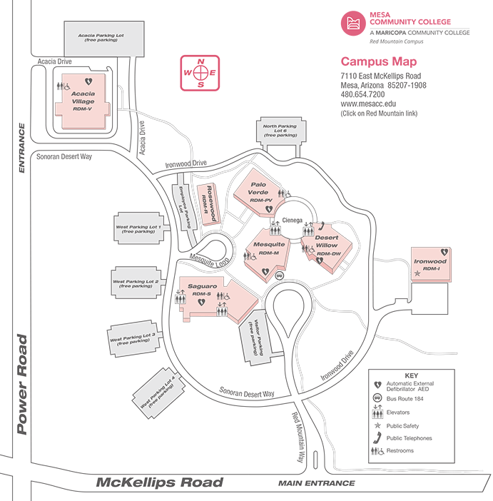 Red Mountain Campus Map  Locations  Mesa Community College