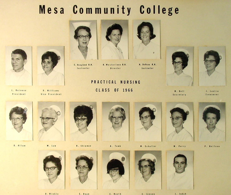 1960s  Nursing  Mesa Community College