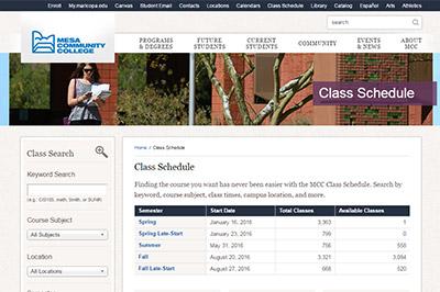 Register for Classes  Academic Advisement  Mesa