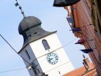 Trei turişti au sunat la 112, după ce au rămas închişi în Turnul Sfatului!