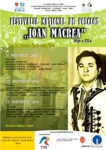 Afis Ioan Macrea 2014