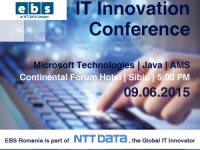 "EBS organizează ""IT Innovation Conference"" la Sibiu"