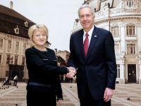 Ambasadorul SUA, în vizită la Primăria Sibiu