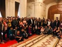 Elevi sibieni, în vizită la Palatul Parlamentului