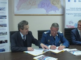 Și jandarmii iau fonduri europene! Inspectoratul de la Sibiu, primul din țară care semnează un contract de finanțare europeană pentru reabilitare energetică