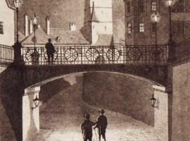 Podul Minciunilor, desenat de Franz Michaelis imediat după inaugurare