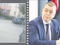 Mașina șefului IPJ Sibiu, Tiberiu Ivancea, parcată ilegal în fața sediului